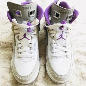 0e34615b43b Air Jordan's Spizike youth Brooklyn purple/white